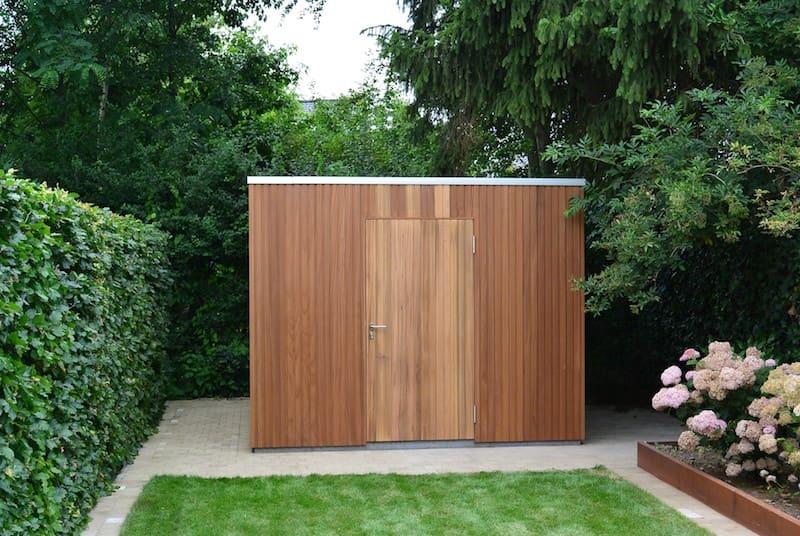 Modern tuinhuis verticale profielplanken claeys