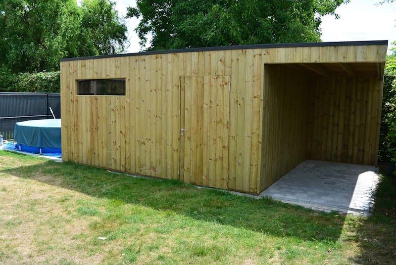 Moderne tuinberging verticale klikplanken - geïmpregneerd hout
