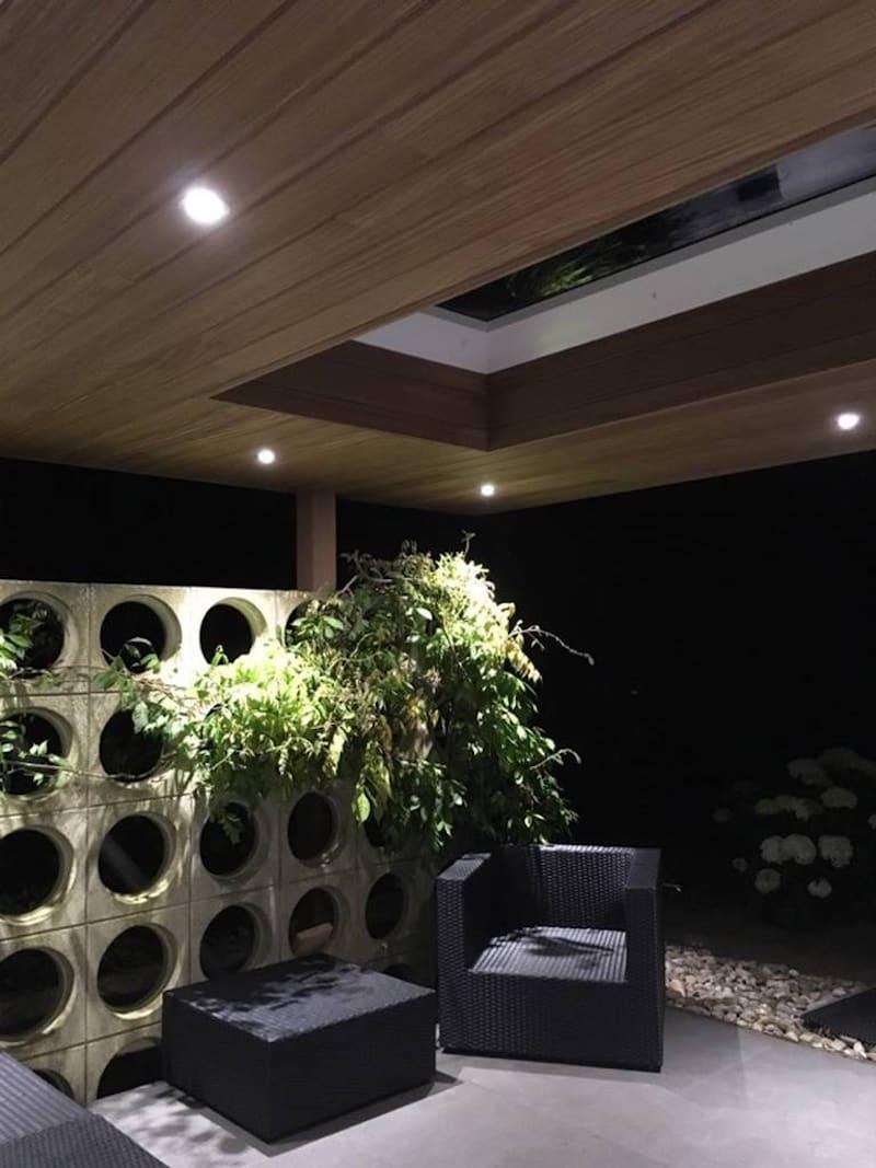 Overkapping - afgewerkt plafond - lichtkoepel