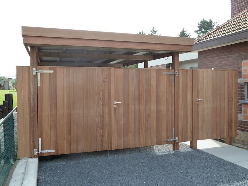 Poort in carport - Iroko