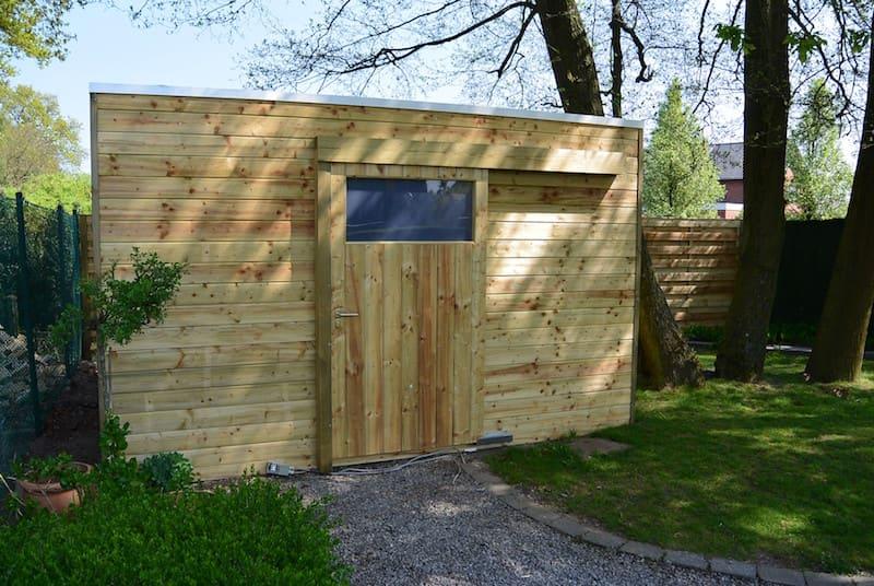 Tuinhuis met schuifdeur - geïmpregneerd hout
