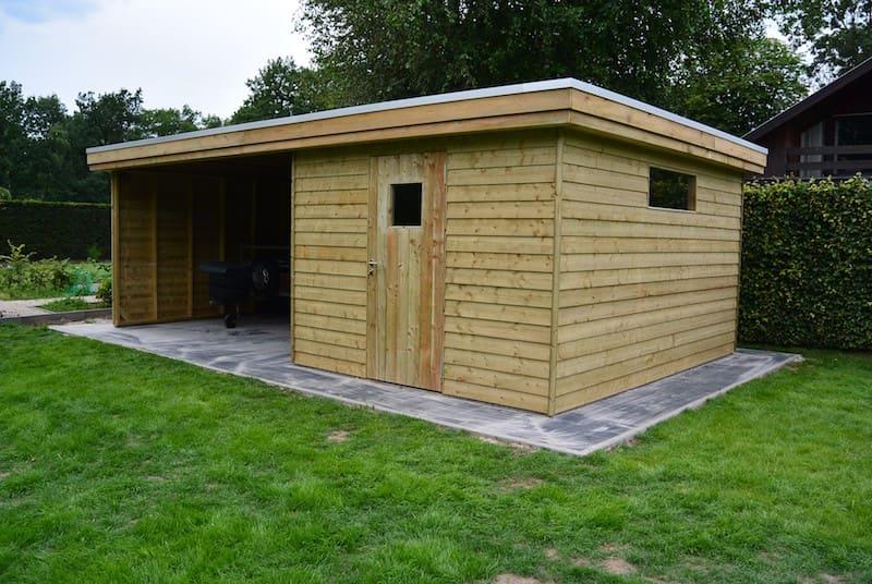 Tuinhuis - open stockageplaatst in geïmpregneerd hout