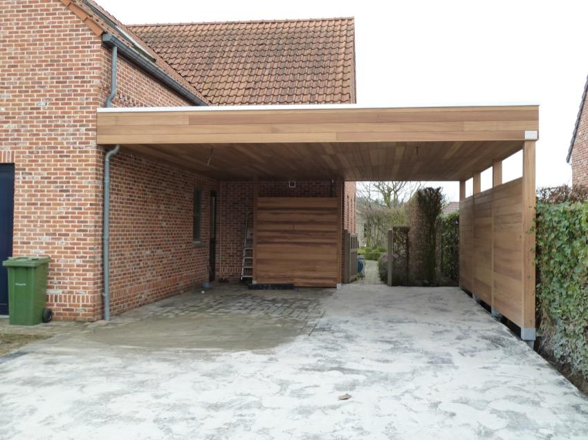 de prijs van een houten carport claeys houtconstructies